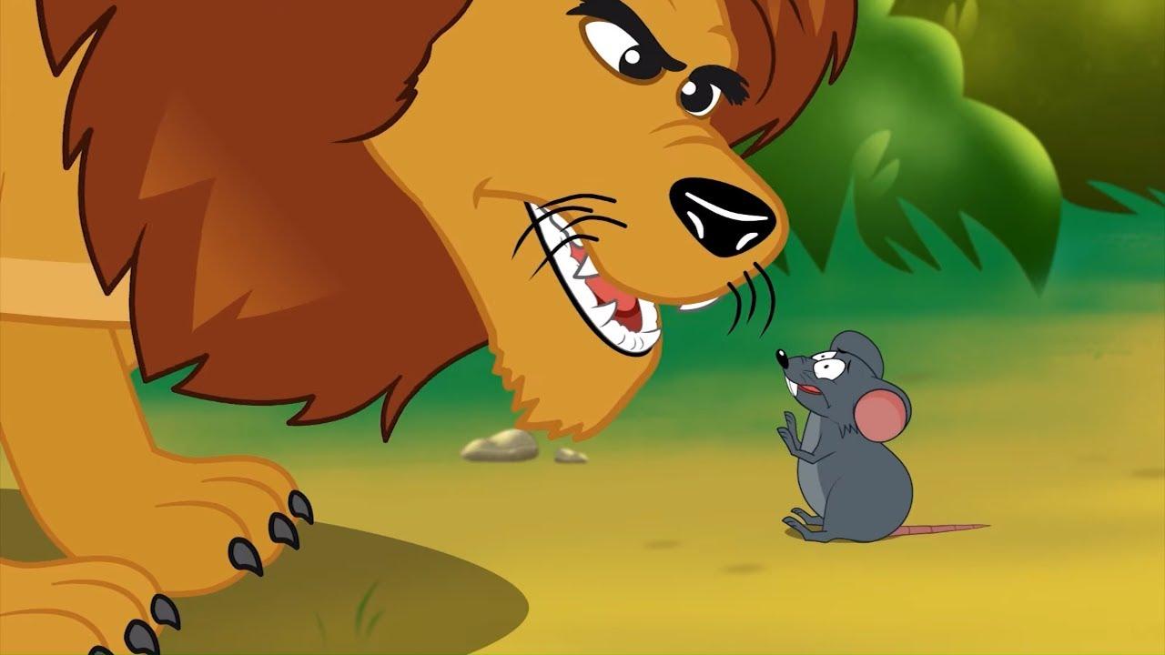 Singa Dan Tikus Kartun Anak Anak Cerita Anak Dongeng Bahasa Indonesia Youtube