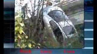 car plunges off overpass