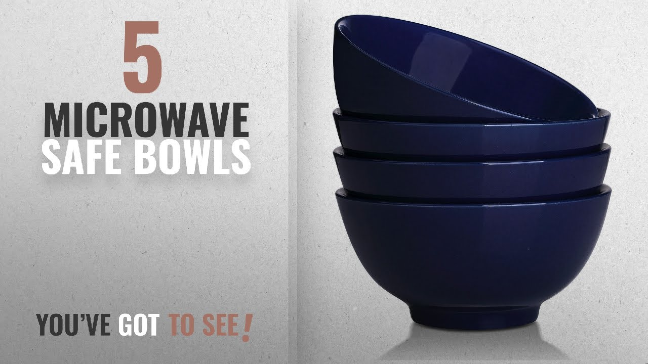 Microwave Safe Bowls Best Microwave Safe Bowls 2018 Dowan 20 Ounce Ceramic Soup Cereal Bowls 4 Packs Navy Blue