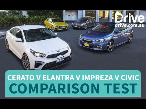 What Is The Best Small Sedan? Cerato V Elantra V Impreza V Civic | Drive.com.au