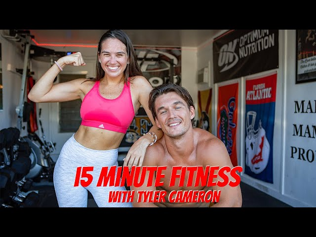 FIFTEEN MINUTE FITNESS\: ALL OUT BOOTY WORKOUT! | Tyler Cameron