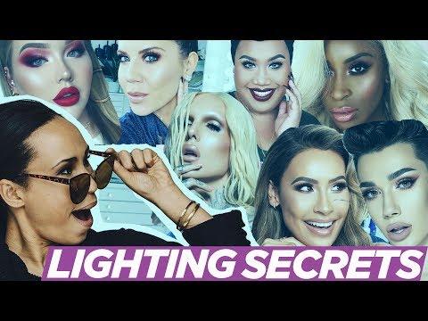 BEATUY GURU LIGHTING SECRETS! (Tati, James Charles, Nikkie, Jeffreee Star and more) thumbnail