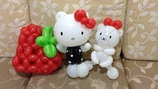 造型氣球 hello kitty 草莓季 hello kitty I love strawberry balloon twisting