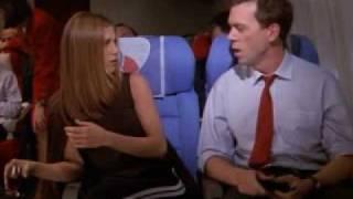 Доктор Хаус (Хью Лори) и Дженнифер Энистон в сериале Друзья 4 сезон последняя серия