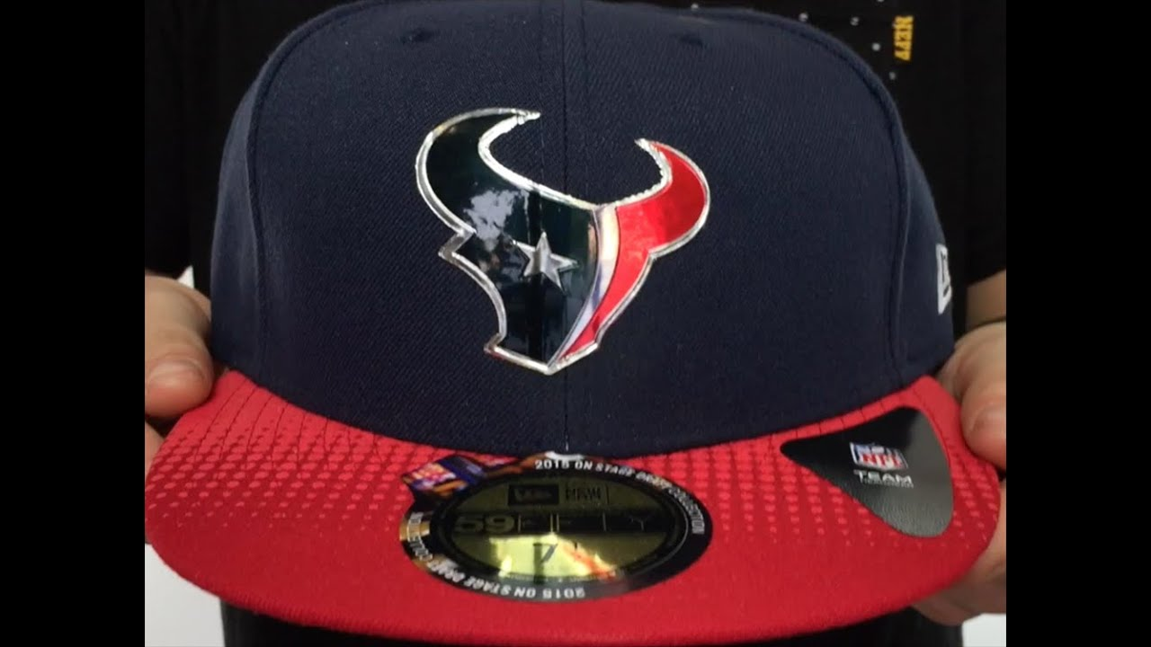 Texans  2015 NFL DRAFT  Navy-Red Fitted Hat by New Era - YouTube 56f3016fa