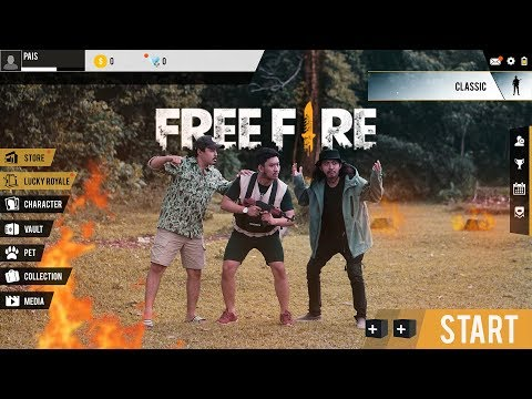 FREE FIRE IN REAL LIFE - NOOB