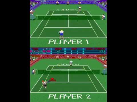 Hot Shots Tennis ~1990 Strata Incredible Technologies~ Arcade MAME hstennis