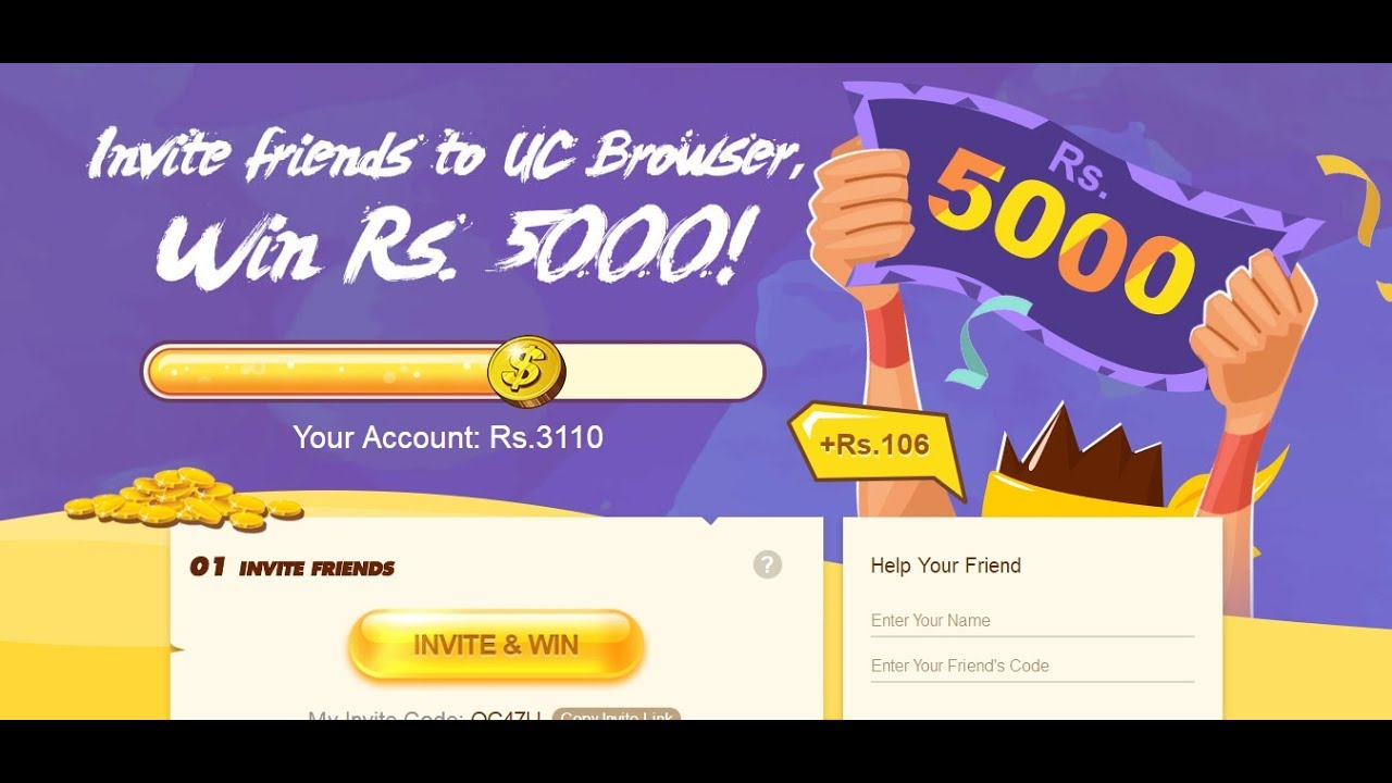 UC Browser Refer Hack Earn Rs.5000 Paytm Cash |  | Rs 2500 on Signup