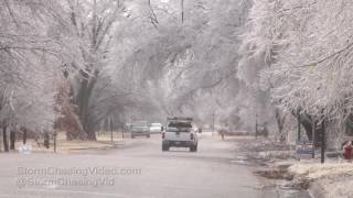 Isabel ,KS Brutal Ice Storm Aftermath B-Roll - 1/16/2017