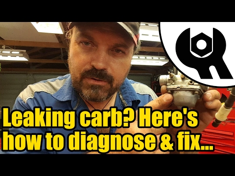 Carb leaking fuel? Here's how to diagnose the problem...#1825