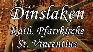 DINSLAKEN (D), kath. Pfarrkirche St. Vincentius - Angelusläuten und Vollgeläute -