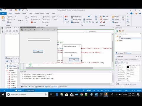 PowerShell Studio - Working with Windows Control Event Handlers