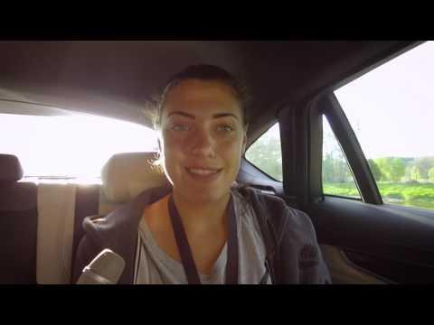 Ana Konjuh - Interview in car