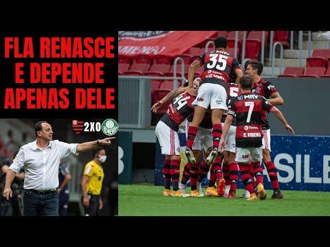 Vitória sobre o Palmeiras mostrou Flamengo evoluído, competitivo e só depende dele para ser campeão