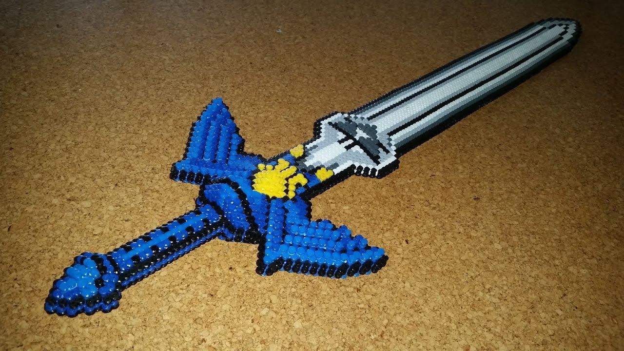Zelda Mit Schwert Und Schild Vorlage Als Pdf Zum Perlen Tshii