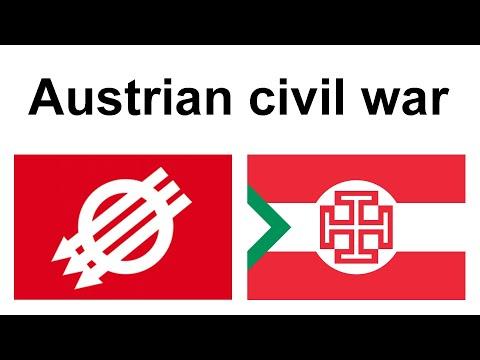 The Austrian Civil War in February 1934