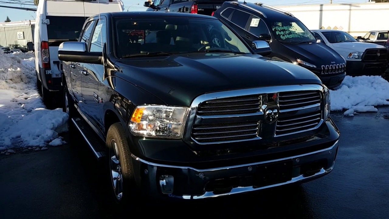 2017 ram 1500 big horn black forest green youtube. Black Bedroom Furniture Sets. Home Design Ideas