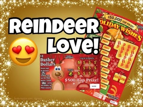 PROFIT WIN! $1 Reindeer Riches & $3 Holiday Wishes Texas Lottery Scratch Off Tickets