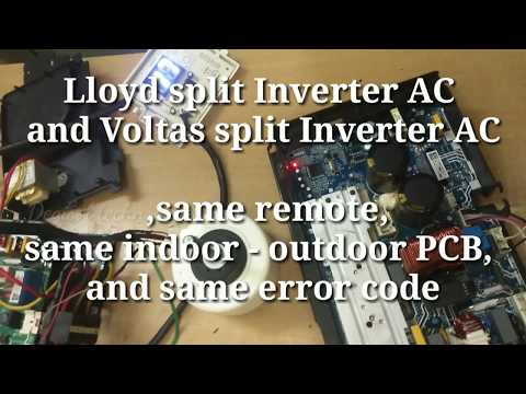How to error code Lloyd Inverter AC ,Voltas Inverter AC