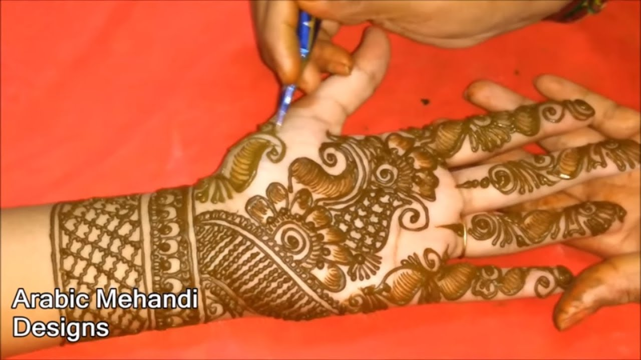 Simple Mehndi Designs For Front Full Hands Latest