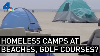 Homeless Encampments Spread to Beaches, Golf Courses As City Takes Hands-Off Approach | NBCLA