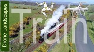 Steam Train - Isle of Man by Drone