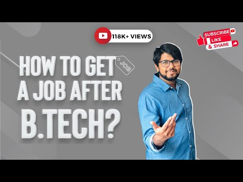 How To Get A Job After B.Tech? || How to build up your career - Aamir Qutub