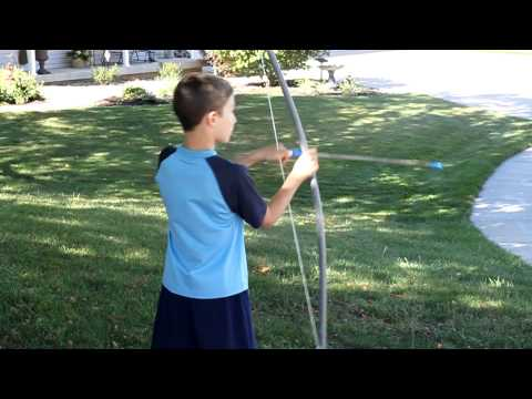 Handmade Bow and Arrow - In Action!