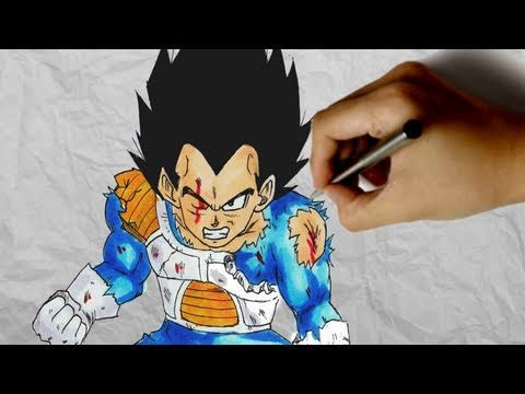 How to draw Vegeta [Dragonball Z]