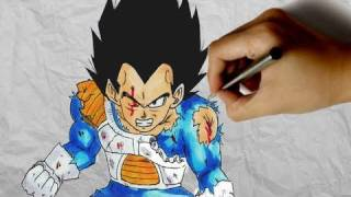 How to draw Vegeta [Dragonball Z]