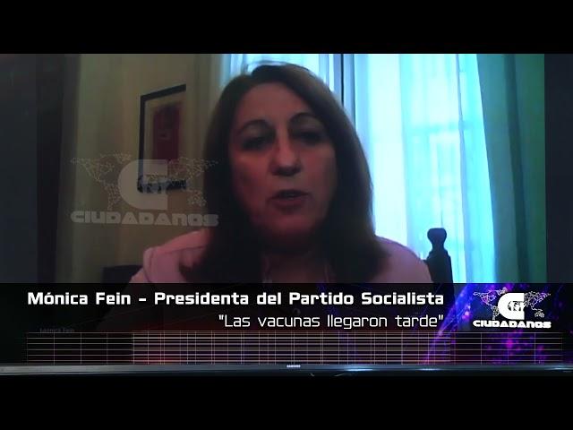 (Anticipo) Mónica Fein, presidenta del PS, sobre la campaña de vacunación