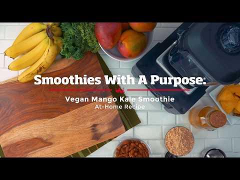 Clean Eco-friendly Mango Kale Smoothie