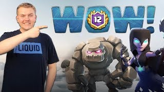 BEST BEATDOWN DECK! 12 Win Golem Tornado LIVE Grand Challenge Gameplay - Clash Royale