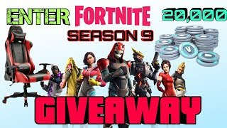 #FORTNITE #GIVEAWAY FORTNITE 20 000 V- BUCK GIVEAWAY- COMMENT ENTER!? (411 SUR LE CADEAU DE CHAISE DE JEU)