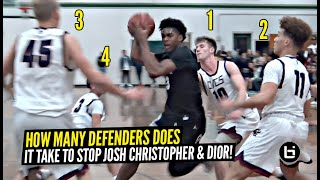 How Many Defenders Does It Take To Stop Josh Christopher & Dior Johnson!? FIRST LEAGUE GAME!