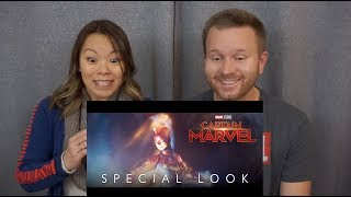 **NEW** Captain Marvel Special Look | Reaction & Review