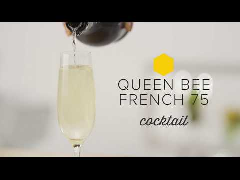 French 75 with a Queen Bee Twist