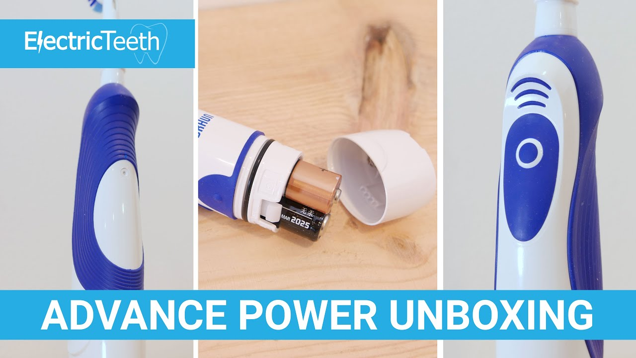 Oral-B Advance Power Battery Powered Electric Toothbrush Unboxing