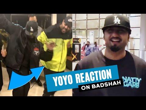 yo-yo-honey-singh-reaction-on-badshah-dancing-with-him-|-honey-singh-at-mumbai-airport