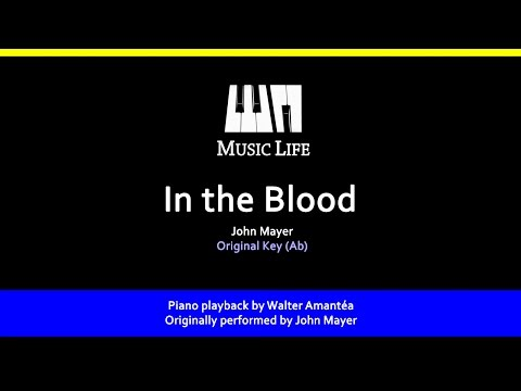In the Blood (John Mayer) - Piano playback for Cover / Karaoke
