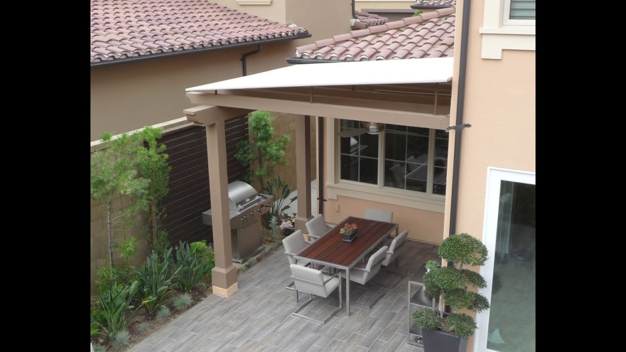 Sloped Awning Trellis Cover Of Irvine California Youtube