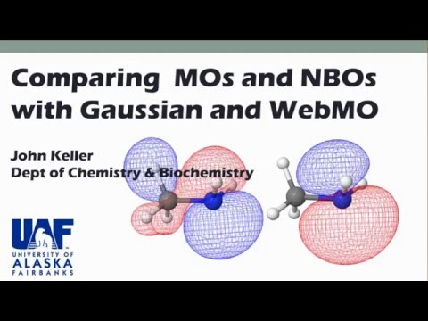 Comparing an MO with the Corresponding NBO Using WebMO