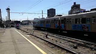 【秩父鉄道】6000系急行さくら号 熊谷駅到着