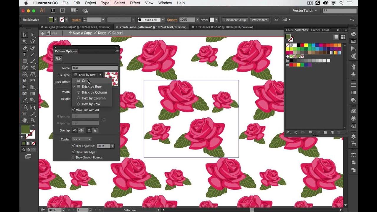 Graphic Design: Make Floral Patterns in Illustrator with free vectors  (beginner) | Freepik