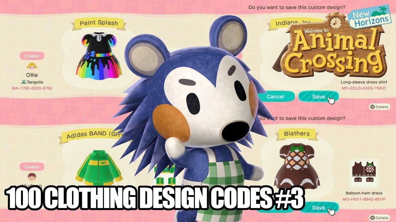 Animal Crossing New Horizons 100 Acnh Clothing Design Pattern