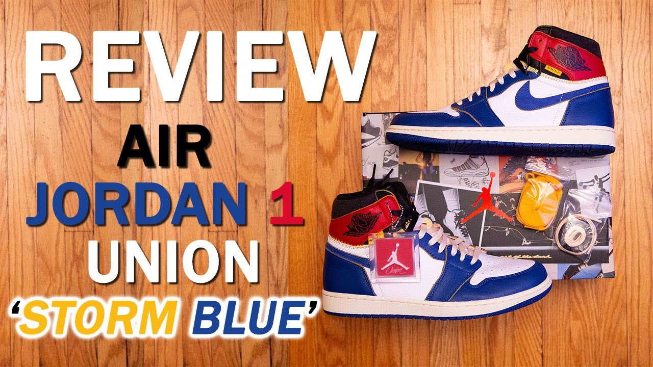 Air Jordan 1 by Union  Storm Blue  Review and On Feet - YouTube 14b9ed80d