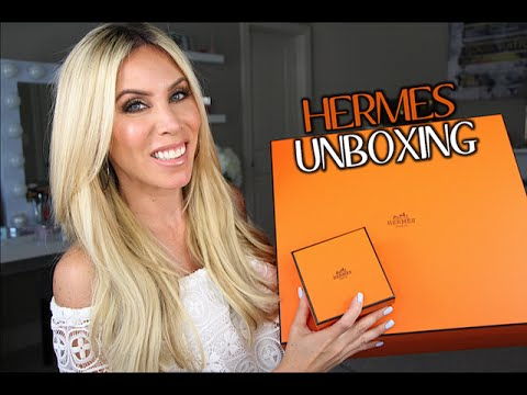 HERMES SHOPPING!Unboxing the Garden Party and Collier de Chien