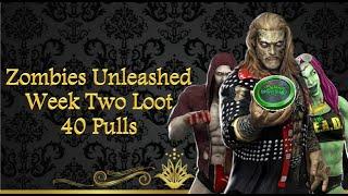 Week 2 Zombies Unleashed Loot: 40 Pulls - WWE Champions screenshot 4