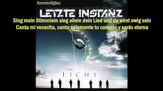 Letzte Instanz - Das Stimmlein (Alemán - Español)