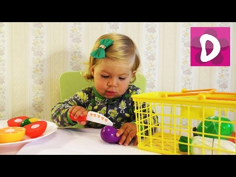 ✿ Готовим Салат Игрушечные Овощи и Фрукты Learn names of fruits and vegetables